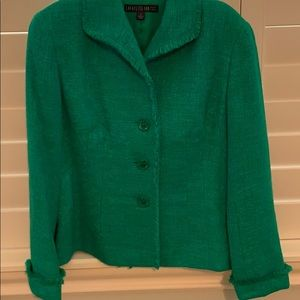 Lafayette 148 New York green blazer. Like new